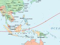 Totalitätszone der Sonnenfinsternis vom 9.3.2016