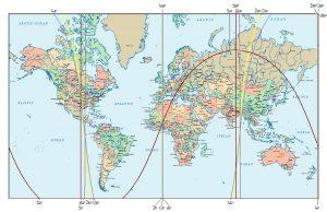 ACG Linien der Sonnenfinsternis vom 9.3.2016 (für Beginn der Totalität)