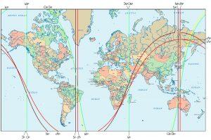 Astrokartografie Neumondeklipse 1. September 2016