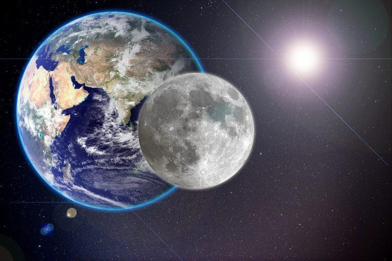 Erde, Mond und Sonne